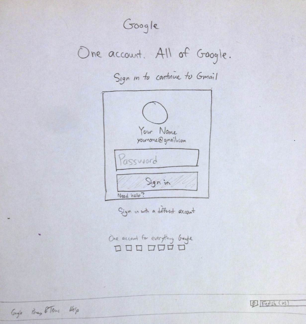 Carbon Copy: Google Login Page - design with dave